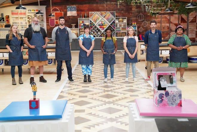 "The Season 3 ""Making It"" contestants: Jessie Lamworth, Gary Herd, Blake McFarland, Becca Barnet, Maria Antoinette, Chelsea Anderson, Adam Kingman and Kaviya Ravi."