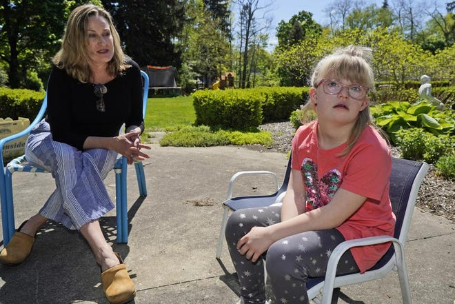 Holly Christensen and her daughter, Lyra.