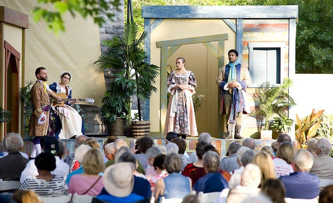 """Actors perform """"Twelfth Night"""" in July 2018 as part of Shakespeare at the Castle in Alliance. The event will return in 2021, with the staging of """"A Midsummer Night's Dream."""""""