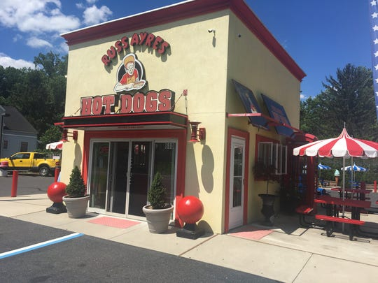 The exterior of Russ Ayres Famous Hot Dogs in Bordentown. The popular shop is located off Route 206.