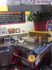 A hot dog cart that was used by the late Russ Ayres is still in use at Russ Ayres Famous Hot Dogs in Bordentown in Burlington County. Chris Baldassari and his wife Pam have owned the popular shop since 1999.