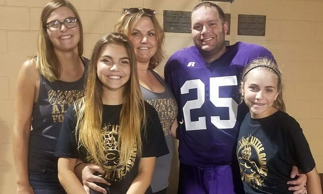 Pictured from the left are: Kyleigh, Abby, Amanda, Troy and Gracie Chisum.