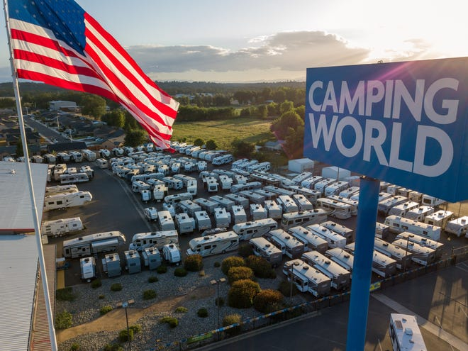 Camping World is bringing an RV super center to Sunbury like the one shown here in Redding, California.