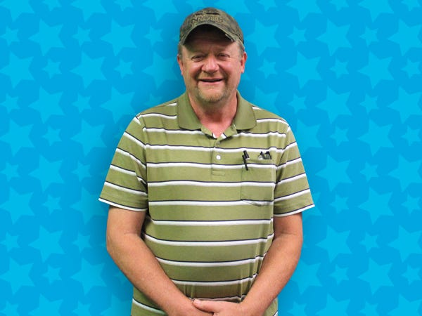 Rodney Everhart of Thomasville said he hopes to go elk hunting after paying off bills with his $1 million lottery win.