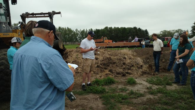 Producers and others learn about beef production during a tour at the Carrington Research Extension Center.