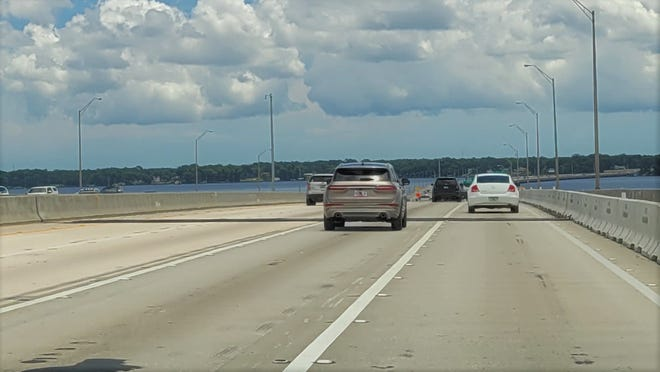 There's a temporary patch on the damaged finger joint on the Buckman Bridge now, but it will be permanently fixed starting July 9, FDOT said.