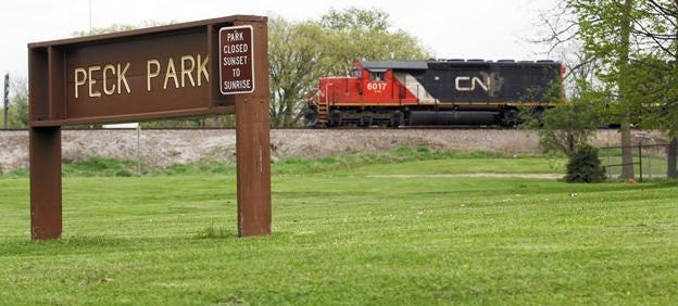 Peck Park in Galesburg
