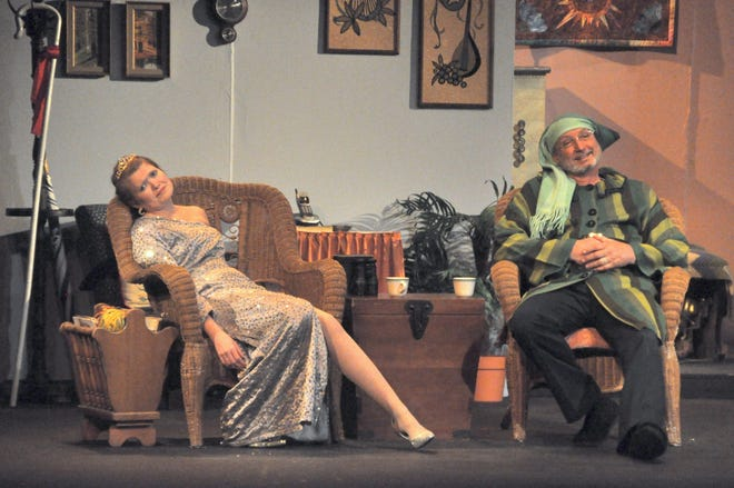"""Mark Stolle, right, is seen playing the role of Vanya in a 2016 production of """"Vanya and Sonia and Masha and Spike."""" He will reprise the role in Theatre Brown County's production."""