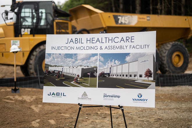 Jabil Healthcare, a division of Jabil Inc., an international company that manufactures parts and sub-assemblies for a variety of industries including health care and telecommunications, will be opening a facility in Flat Rock. Project Manager Jim Cormas said they hope to have the facility open by mid-2022.