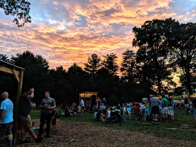 This file photo shows a past Firefly Festival at Blue Ghost Brewing Co. in Fletcher.