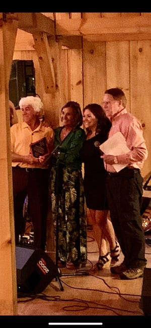 The Hendersonville Merchants and Business Association recognized Tom and Fran Shipman recently for the annual Clifton Shipman Award.