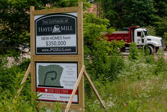 Construction has begun at The Cottages at Hayes Mill development along Old Haywood Road in Mills River.