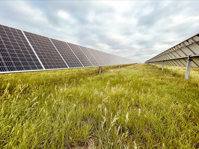 """June 23 Butler Electric Cooperative """" Flipped the Switch"""" on two 1 megawatt sun Farms one. Originally announced in November of 2020, Butler Electric Cooperative's two solar farms — one near Newton and one near Degraff —were formally linked to the grid by Today's Power Inc. (TPI) of North Little Rock, Arkansas."""