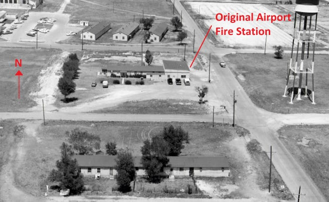 The original airport fire station pictured in June 1971.