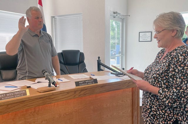 Bert Westbrook was sworn into office at the June 8.