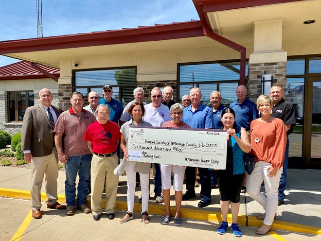 Pictured are the Humane Society of McDonough County board members as well as McDonough Power Cooperative board members and staff.