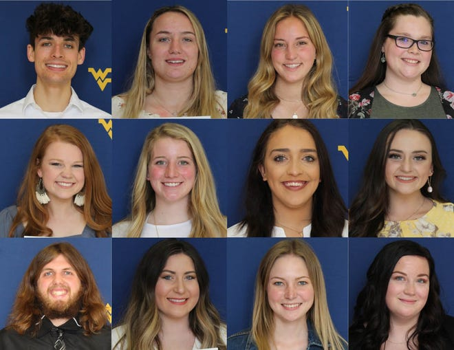 WVU Potomac State College inducted 22 students into the Sigma Phi Omega Honor Society this spring during its annual Recognition Day Awards Ceremony. Pictured above are students who received their certificates that day: (top row l-r) Matthew Bane, Calista Brelsford, Dalas Carder, Allison Cowgill, (second row) Kylie Crites, Makenna Douthitt, Kendra Johnson, Erica Merrill, (third row) Batson Sheets, Bethany Smith, Kayla Veach, and Madison Williard.