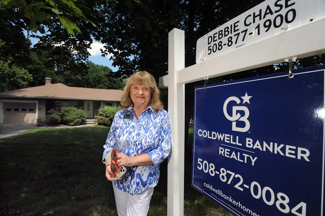 Realtor Debbie Chase at 41 Claudette Circle in Framingham, which is listed at $550,000, June 24, 2021.
