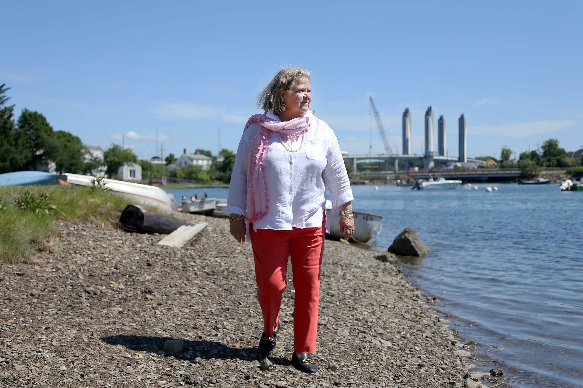 Portsmouth City Councilor Paige Trace, alongside North Mill Pond, believes developers are taking advantage of policies that do too much to benefit them and too little for the best interests of the city and its people.