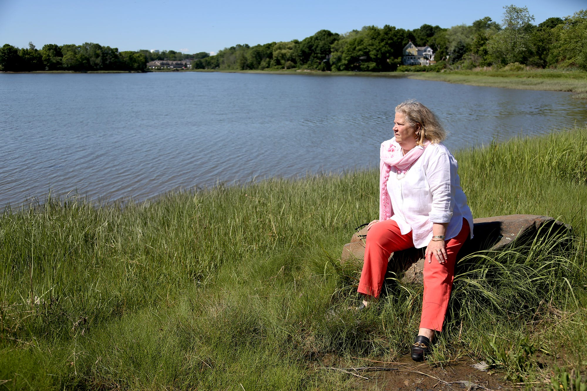 Portsmouth City Councilor Paige Trace is concerned about the impact of development on North Mill Pond in Portsmouth.