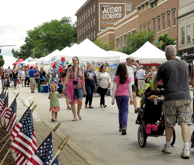 More tables and vendors participated in the 2016 Heritage Festival in Kent. This year, there was less time to plan the event, so the festival will be more scaled back but still feature live music.