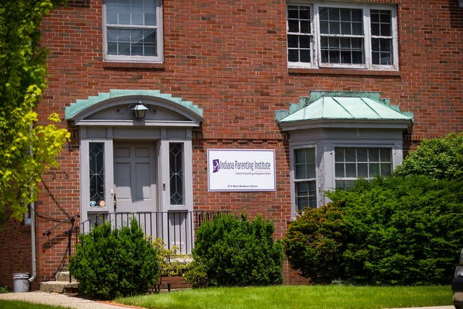 The exterior of the building at the Indiana Parenting Institute of St. Joseph County on Madison Street in South Bend.