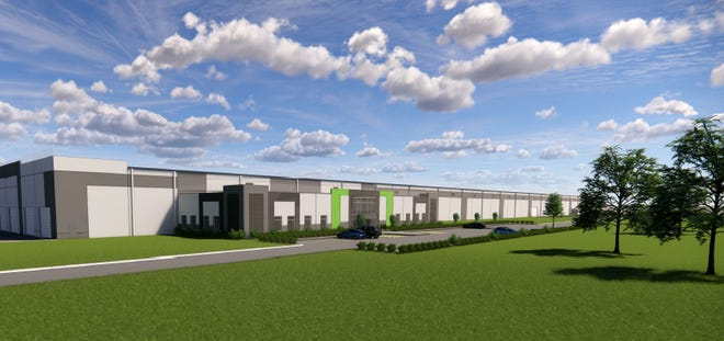 This is a rendering of the Stonemont/MJB Woods new facility in Bristol.