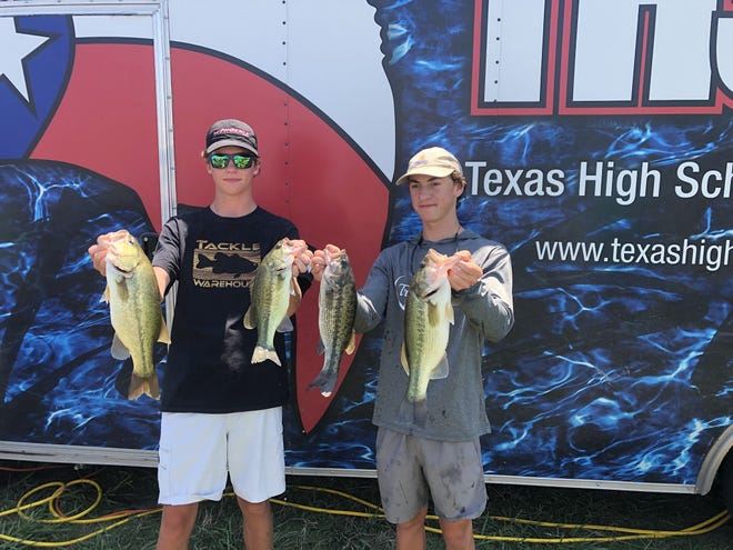 Clayton Easter and Mason Barney were invited to participate in the Texas High School Bass Association Angler of the Year (AOY) tournament after placing second during the regular season in the West Division.  There were a total of 97 teams competing with 158 total fish caught, average weight was 2.71 pounds and average weight per team was 4.36 pounds. Clayton and Mason finished 14th overall with four fish weighing 9.05 pounds. Both received new rods and reels.