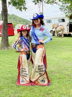 The Miss Rodeo Texas Pageant is being held this week in San Antonio and the Cowboy Capital of the World PRCA Rodeo is well represented. Pictured are Miss Cowboy Capital Pro Rodeo Princess Maddison Hammond and Miss Cowboy Capital Pro Rodeo Teen Rebekah McQueen.