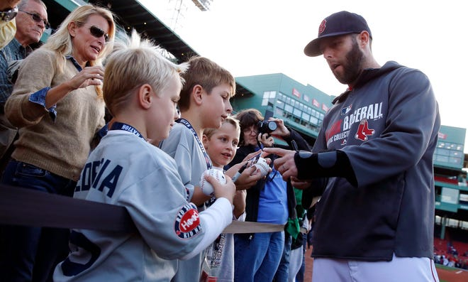 Boston Red Sox's Dustin Pedroia, who retired prior to this season, will be honored tonight at Fenway Park.