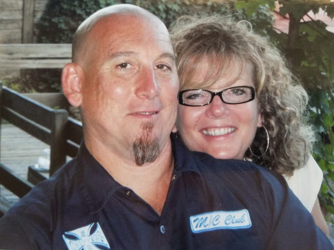 Matthew and Jeanene Indermill were married for five years, and together for 10, before she was killed by a drunken motorist while riding a motorcycle with her husband.