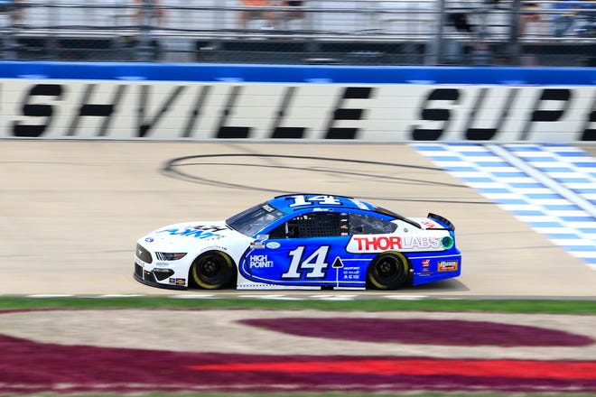 Mitchell's Chase Briscoe flashes down the frontstretch at Nashville Superspeedway Sunday. Briscoe will compete at Pocono Raceway Saturday and Sunday.