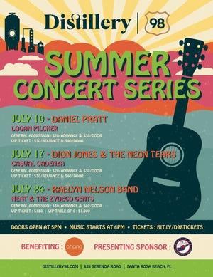 Summer concert series begins July 10.