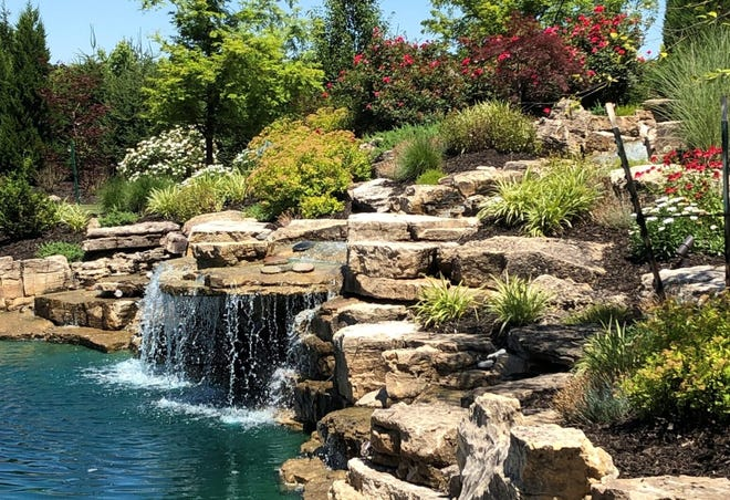 There are 12 gardens that are included in the Master Gardener's Garden Walk Saturday and Sunday. This Newburgh garden is included in the tour.