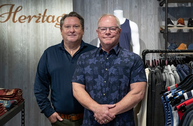 Kent Henry and Stan Wellman at Heritage Clothier and Home in SoBro.