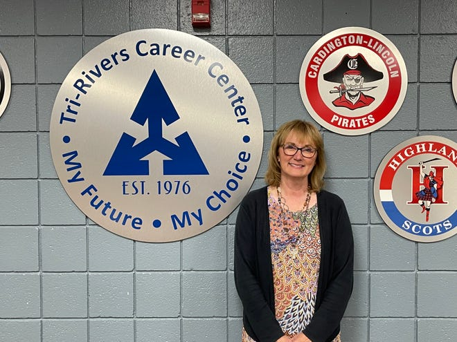 Ellen Messenger, director of communications at Tri-Rivers Career Center, is now in her 31st year with the school.