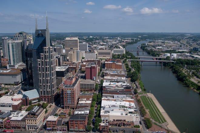 Downtown Nashville as seen from the Four Seasons Private Residences Nashville on Thursday, June 24, 2021, in Nashville, Tenn.