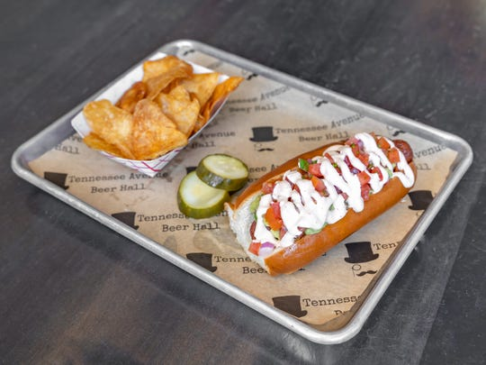Try the Mexicali dog at Tennessee Avenue Beer Hall in Atlantic City.