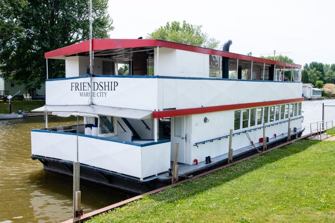 """The 67-foot, double-deck Marine City River Boat """"Friendship"""" has been docked on the Belle River for much of 2021, but a month into the new investment, owner Paul Gallas got a purchase offer from Chicago."""