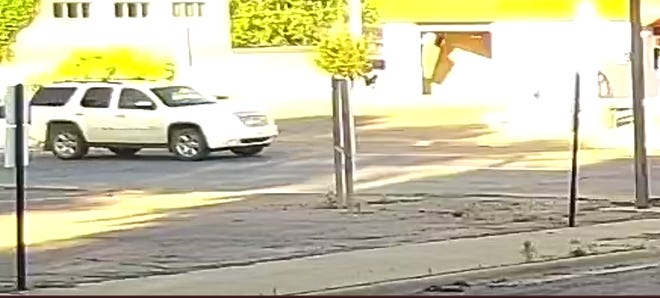 Vehicle involved in a hit-and-run with a bicyclist in Sioux Falls on Saturday.