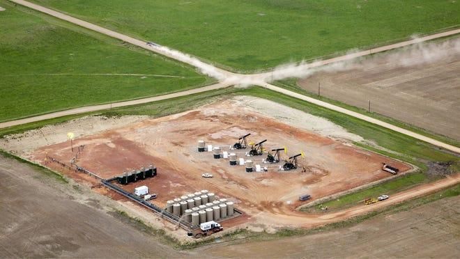 Oil and Gas development near Theodore Roosevelt National Park in North Dakota.