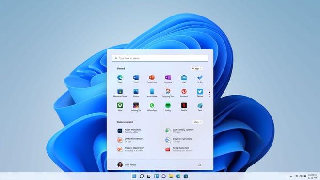 The taskbar shown in Windows 11.