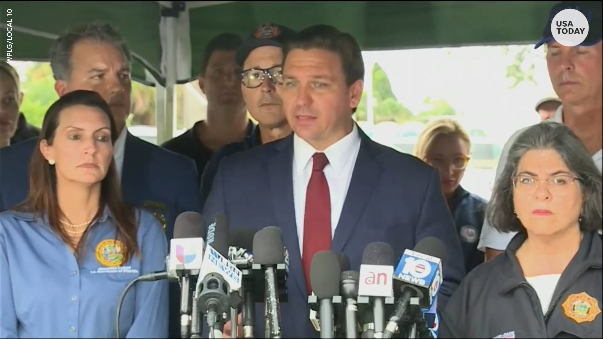 Florida Governor Desantis shares his thoughts after building collapse near Miami