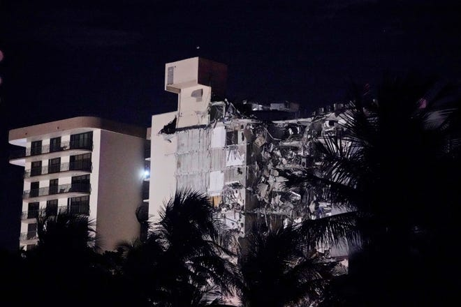The partial collapse of a building in Miami's Surfside area sparked a massive response from the Miami Dade Fire and Rescue Service on Thursday.  The Miami Fire Department is conducting a search and rescue.  Thursday, June 24, 2021