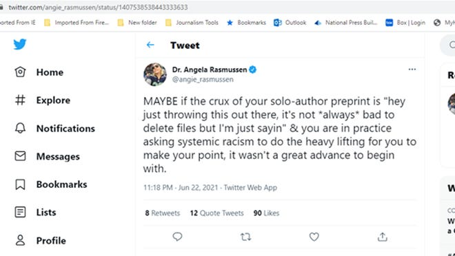 Tweet dated June 22, 2021.