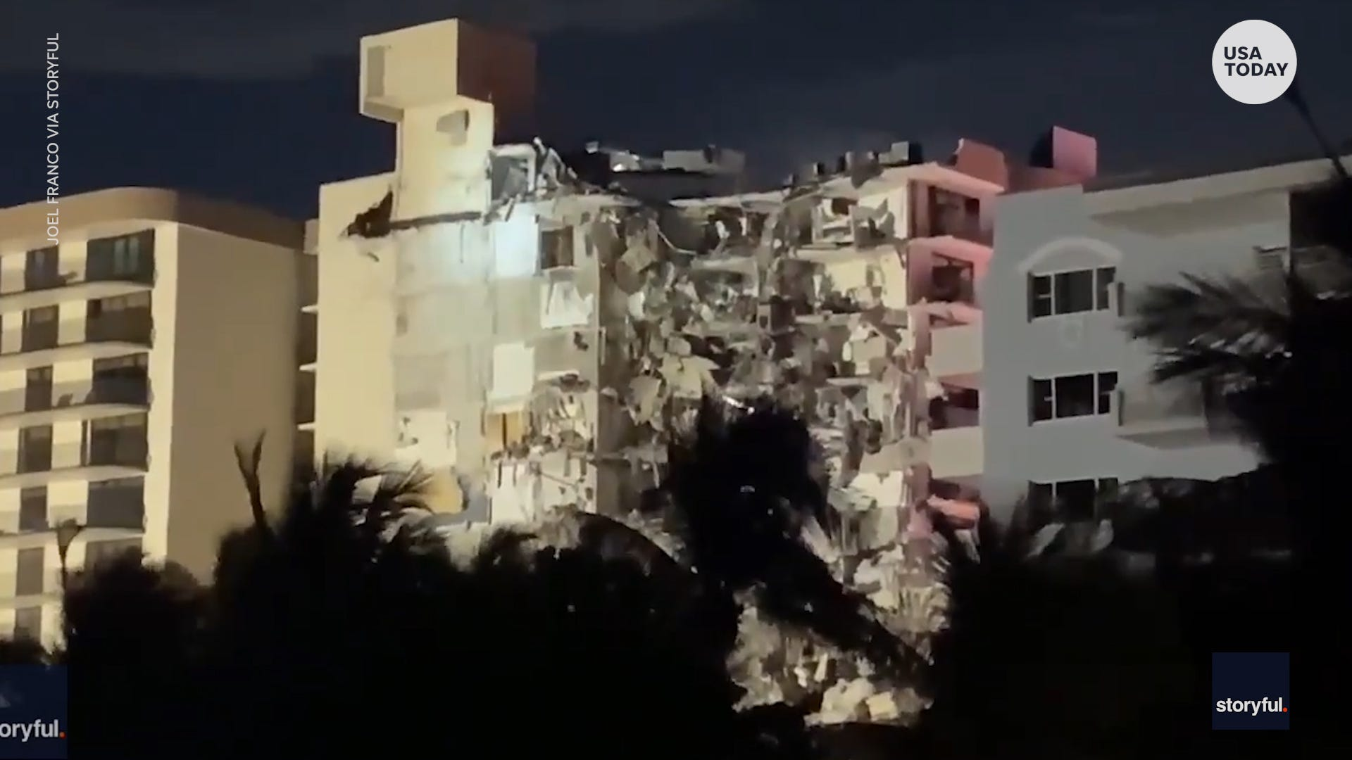 Oceanside condo building with over 100 partially collapsed units in Miami, Florida