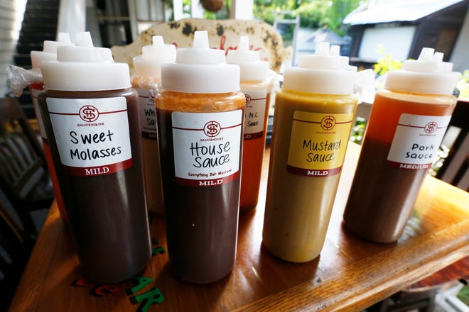 BBQ sauces from across the Southeast at Saucehouse BBQ in Athens, Ga., Wednesday, June 23, 2021.