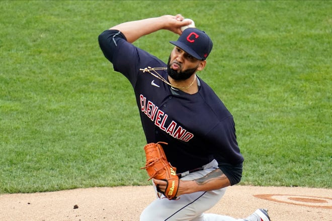 Cleveland pitcher J.C. Mejia gave up one run on four hits in six innings in a 4-1 win over the Minnesota Twins on Thursday night. [Jim Mone/Associated Press]
