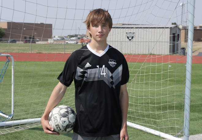Coleby McCurdy of Randall High is the AGN Boys Soccer Newcomer of the Year.