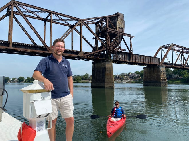 Gregory LaBelle, left, and Steven Cox, right, launched their business kayak rental business on the Savannah River June 2020. They've been able to build a loyal customer base and have a successful first year.